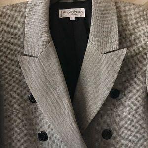 Yves Saint Laurent Jackets & Coats - Yves Saint Laurent Gold Tone Blazer